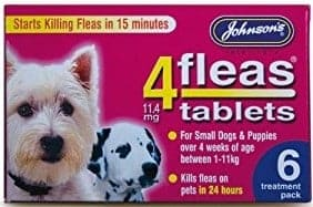 Best Flea Treatment for Puppies - Johnsons 4Fleas Tablets for Dogs