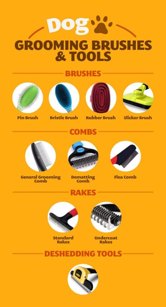 types of grooming brushes